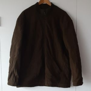 Brooks Brothers Olive Green XL Fleece Zip Jacket